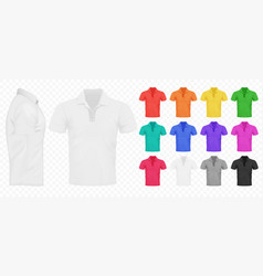 Black white and other basic color men t-shirts vector
