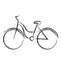 Blurred thick silhouette of tourist bike icon vector