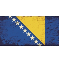 Bosnia and herzegovina flag grunge background vector