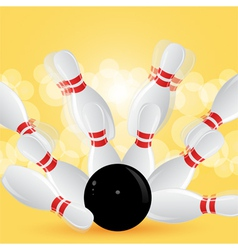 bowling strike vector image