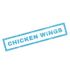 Chicken Wings Rubber Stamp vector image