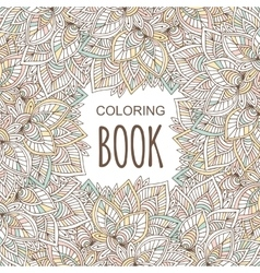 Coloring book cover in unique zentangle style vector