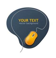 computer mouse text vector image vector image