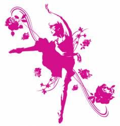 Dancer graphic vector