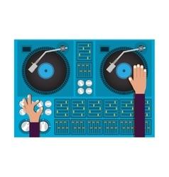 disc jockey design vector image vector image