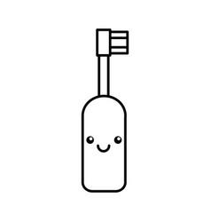 Electric brush kawaii character vector
