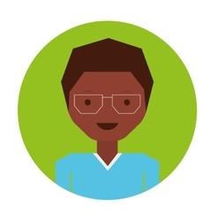 Glass boy icon vector