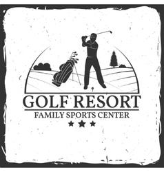 Golf resort concept vector image vector image