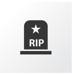 grave icon symbol premium quality isolated rip vector image