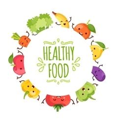 Healty food cartoon representing vector image vector image