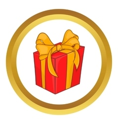 Holiday gift box icon vector