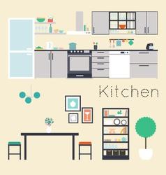 kitchen vector image vector image