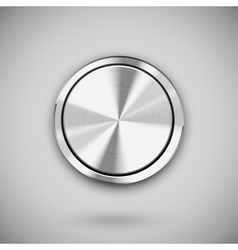 metal circle button vector image