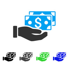 pay by cash flat icon vector image