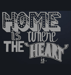 quote home is where the heart is vector image
