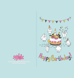 Ready for print happy birthday card design with vector