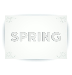 Spring embossed inscription vector