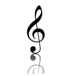 Violin clef icon vector