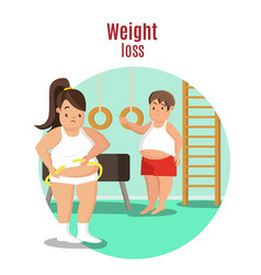 Weight loss concept vector