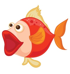 a red fish vector image