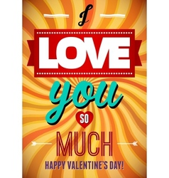 Valentines day type text calligraphic valentines vector