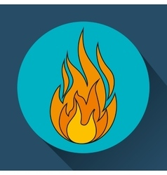 fire flame burning vector image
