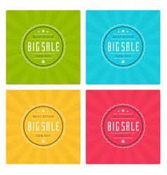 Sale banners or labels design set vector