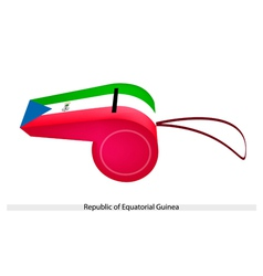 A whistle of republic of equatorial guinea vector