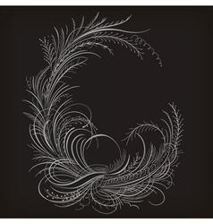 Decorative caligraphy border vector image