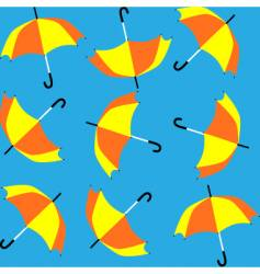 Umbrellas pattern vector