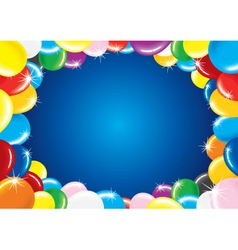 fesive background with balloon vector image