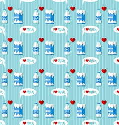 Milk bottle and milk carton seamless pattern vector