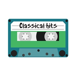 Cassette classical hits vector