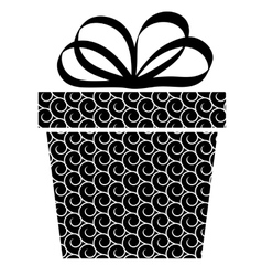 Gift box and with bow vector
