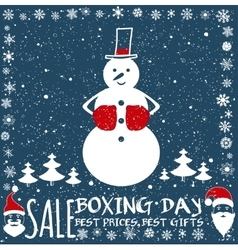 Boxing day card vector