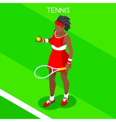 Tennis 2016 Summer Games 3D Isometric vector image