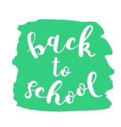 Back to school brush lettering vector