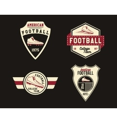 American football badge with cleats sport logo vector