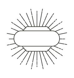 Art deco style linear label vector