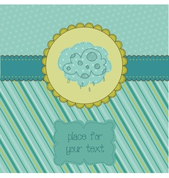 autumn themed card vector image