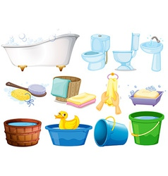 Bath set vector image