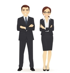 Business man and woman vector