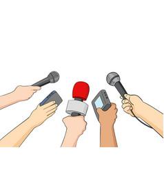 Cartoon of journalists vector