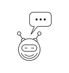 chatbot outline icon vector image vector image