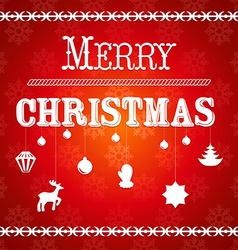 Christmas greeting card with the text Merry vector image vector image