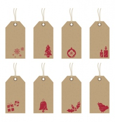 Christmas tags with icons vector
