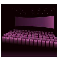 Cinema interior vector