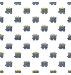 Coal trolley pattern seamless vector