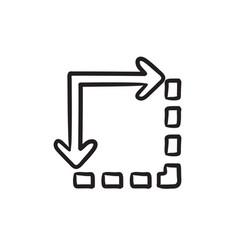 Content extension sketch icon vector