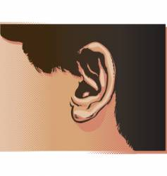 ear illustration vector image